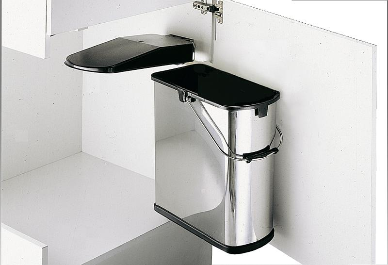 wesco einbau abfallsammler f r schrankt r 19 liter edelstahl alles f r ihre k che. Black Bedroom Furniture Sets. Home Design Ideas