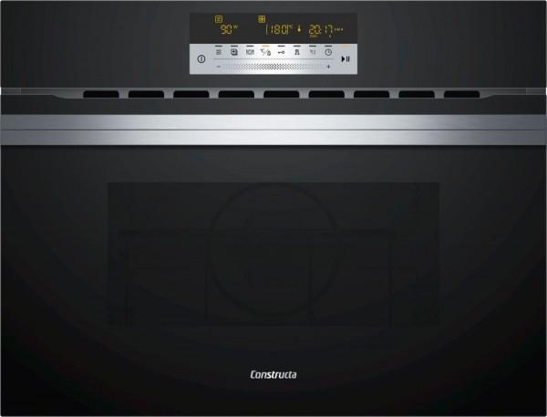 Constructa CC4W91860 Einbau Kompaktbackofen Mikrowelle Schwarz 44l