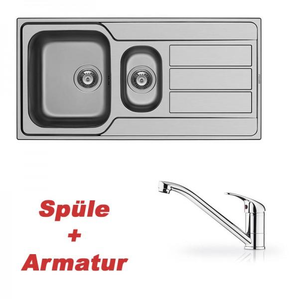Pyramis Spülenset ΑΤΗΕΝΑ (100X50) 1 1/2B 1D und Armatur PRIMA