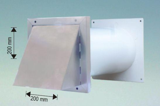 Quellmalz Mauerkasten 125 mm mit Lüftungshaube Edelstahl Rundanschluss