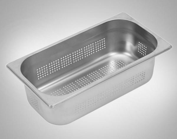 Gastronormbehälter 1/3 gelocht Edelstahl 110 mm tief 0838 für GENEA, MERA, BELA