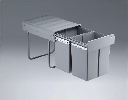 Wesco Einbau-Abfallsammler Double Master Maxi
