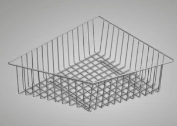 geschirrkorb edelstahl 0834 f r mera eck mera eck f. Black Bedroom Furniture Sets. Home Design Ideas