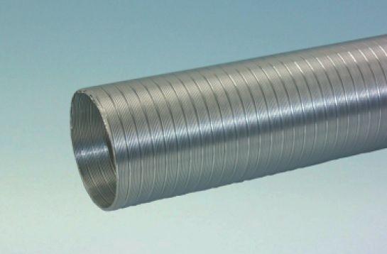 Quellmalz Stauchbares Aluminium-Dunstabzugsrohr 125 / 3