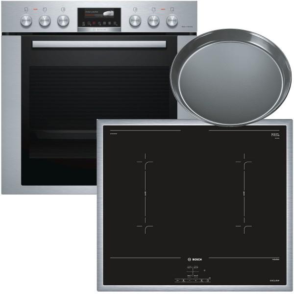 Bosch MKH74DP0 Einbauherdset Home Connect Induktion Pyrolyse EXCLUSIV