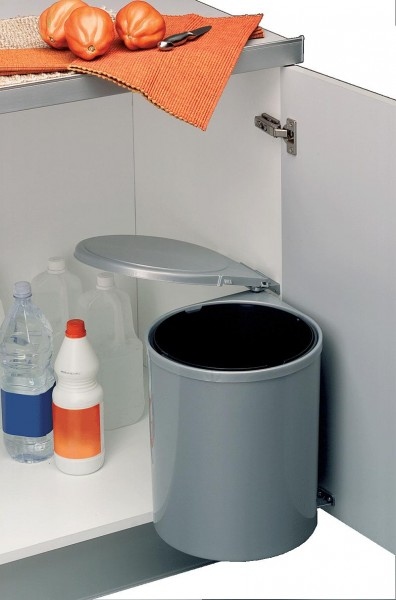 Wesco Einbau-Abfallsammler 13 Liter grau