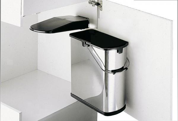 Wesco Einbau-Abfallsammler für Schranktür 19 Liter Edelstahl