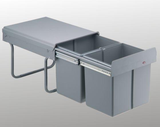 Wesco Einbau-Abfallsammler Double Master 40DT